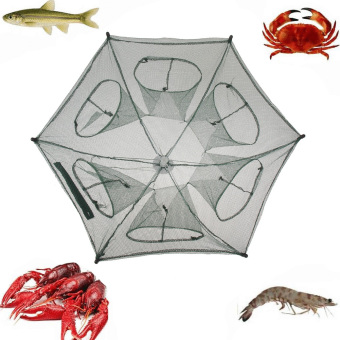 Folding Fishing Net Fish Shrimp Minnow Crab Baits Cast Mesh Trap