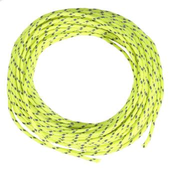 Harga Camping Awning Shelter Cord Tent Rope Guy Line Reflective String Paracord Fluorescent (Green) - intl