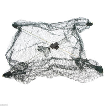 Folded Fishing Net Fish Shrimp Minnow Crab Baits Cast Net Mesh Trap Dip 60CM-