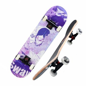 Harga SWAY Professional Skateboard with Carry Bag Protective Gears and Free Gifts-Mistery Girl (EXPORT)