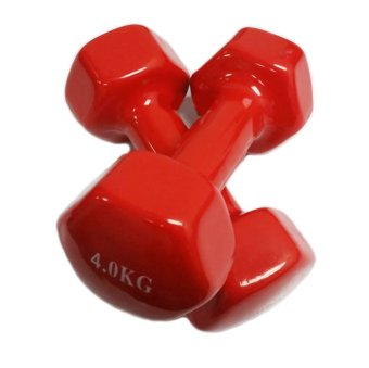 Harga Mini Vinyl Dumbbells 4kg (Red) (Sold in Pair)