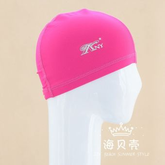 Hot Spring solid color adult children's stretch swimming cap