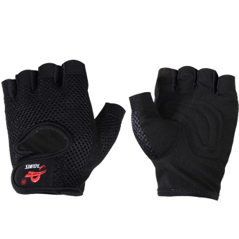 Harga Gym Building Training Fitness Gloves Weight Workout Exercise(Black)(L)