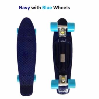 Penny Style Board Skateboard 22 inch ABEC 11 (Navy with Blue Wheels) Penny Board Skateboard 22 inch (Pink with White Wheels) Scooter / Electric Scooter / Kick Scooter / Skate Scooter / Kids / Children / Adult