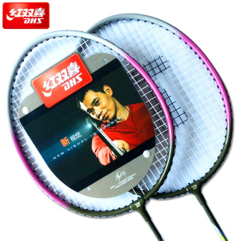 Harga Dhs Badminton Racket Badminton Racket Badminton Racket Men And Women Parenting Models Of Child Family Double Shot Three Beats
