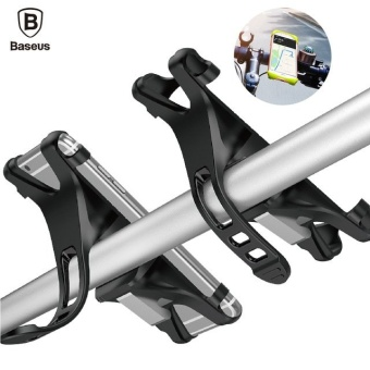 Baseus Universal Bicycle Holder Fluorescent light indicates handle For iPhone 6 6S 7 Plus Samsung Bicycle Phone Holder Smartphone Bicycle Mount Holder (Black) - intl