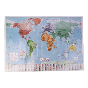 List price oh new 97 5 x 67 5 large world map english french wall allwin new 975 x 675 large world map english french wall chart teaching poster gumiabroncs Choice Image