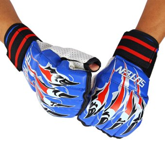 Harga SUTEN 1 Pair Half Finger Boxing Sanda Fighting Sandbag Gloves with Cartoon Falcon talons Image (EXPORT) - INTL
