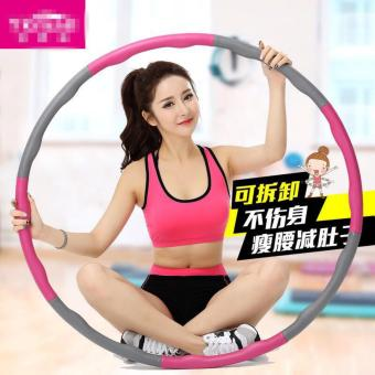 Weight Adjustable Hula Hoop Fast Abs belly Slimming 72cm (Pink) - intl