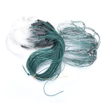 25m 3 Layers Monofilament Gill Fishing Net with Float Fish Trap - intl