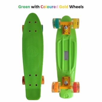 Penny Style Board Skateboard 22 inch (Green with Illuminating Wheels) Penny Board Skateboard 22 inch (Pink with White Wheels) Scooter / Electric Scooter / Kick Scooter / Skate Scooter / Kids / Children / Adult