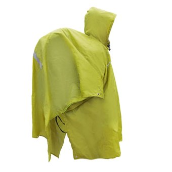 Harga 3 in 1 Multifunctional Raincoat Rain Poncho Backpack Cover Awning Green(Export)