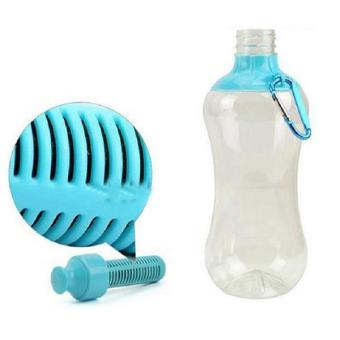 Harga Hang-Qiao 550ML Portable Water Purifier Hydration Filter Bottle (Blue)