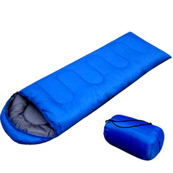 Harga PAlight Outdoor Envelope Hooded Sleeping Bag (Blue)