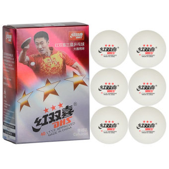 Harga DHS 1840A0 3-Star Level 6Pcs 40mm High-Quality Durable Tough Washable Celluloid Table Tennis Ping Pong Ball Suitable For both Amateur Competitions and Fitness Activity White - intl