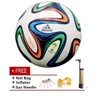 Harga New World Cup PU Football Ball Adult Soccer Ball Brazuca Glider Size 5 Ballon - intl