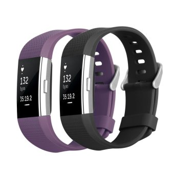 Fitbit Charge 2 Band, Hanlesi TPU Soft Silicone Adjustable Replacement Sport Strap Band for Fitbit Charge 2 Smartwatch Heart Rate Fitness Wristband - intl