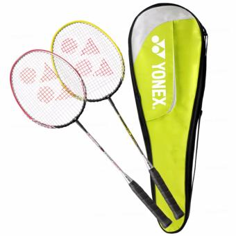 Harga Yonex Korean Best-Selling Badmintion 2 x B6000i rackets with a Full Cover Case - intl