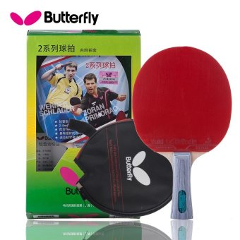 Genuine Butterfly TBC202 Table Tennis Blades / Paddle / Bat / Table Tennis Racket FL Shakehand Grip with Bag - intl