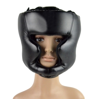 Harga MOKE New Headgear Head Guard Training Helmet Kick Boxing Protect Gear Black