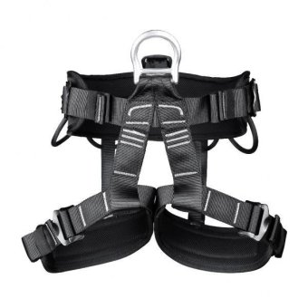 Harga MagiDeal Professional Safety Rock Climbing Rappelling Harness Seat Sitting Bust Belt Black - intl