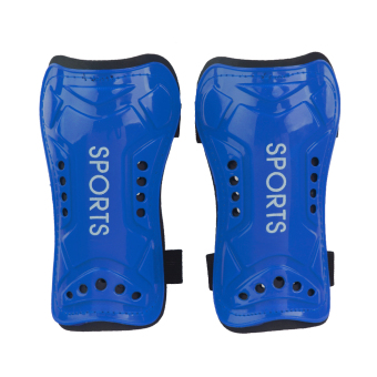 2x Soft Light Football Shin Pad Guard Sports Leg Protector Kids Adult Blue (Intl)