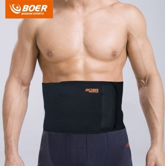 Harga BOER Sport Breathable Adjustable Waist Back Belt Support Lumbar Band Protective Gear - intl
