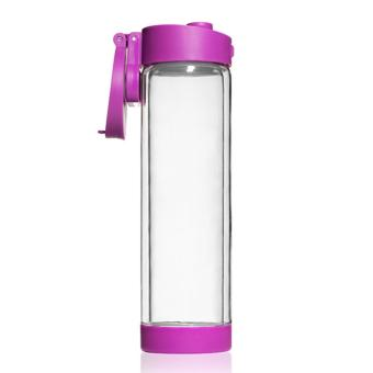 Harga Glasstic Shatterproof Glass Water Bottle 470ml - Purple