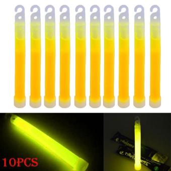 PAlight 10pcs 6inch Industrial Grade Glow Sticks Light Stick Party Camping Emergency Lights Glowstick Chemical Fluorescent - intl