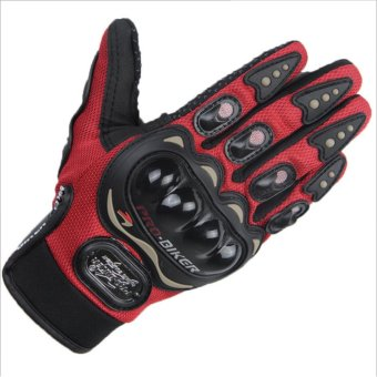 Harga Motorbike sport Protection Glove /Motor Racing Glove/ Motocycle Full Finger Protective Glove(Black) - intl