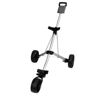 Harga Golf Pull Cart Golf Trolley Golf Push Pull Cart 3wheels Pull Cart Foldable Trolley With Brake - intl
