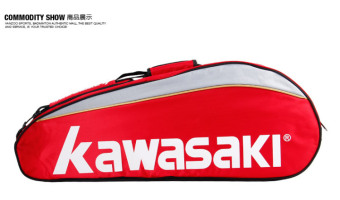 Harga Kawasaki badminton bag shoulder shoe backpack 3-6 branch loaded badminton racket bag men and women tcc-047