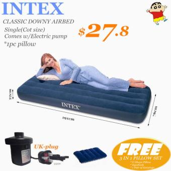 INTEX AIRBED Single(Cot size)*Pump*Pillow to choose*Inflatable Mattress*Air bed