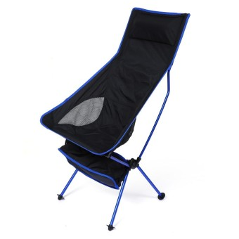 Lengthened Foldable Aluminium Alloy 7050 Outdoor Chair with EPE Pillow Foot Strap - intl