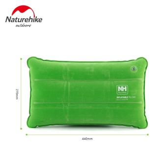 Naturehike Ultralight Foldable Travel Camping Pillow Flocking+PVC Air Mattress Inflatable Mattress To Sleep Pillow Outdoor Mat - intl