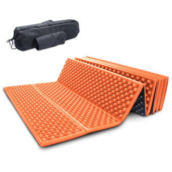 Outdoor Sports Yoga Fitness Foam Mat Sleeping Pad Mattress Dampproof Hiking Camping Orange - intl