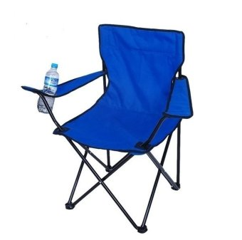 Portable Foldable Outdoor Beach Chair for Fishing Camping Picnic (Blue)
