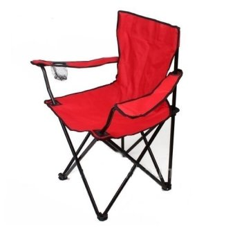 Portable Foldable Outdoor Beach Chair for Fishing Camping Picnic (Red)