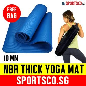 SPORTSCO 10mm NBR Thick Yoga Exercise Mat (Blue)