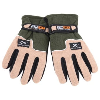 Winter Warm Full Finger Sports Riding Motorcycle Ski Snow SnowboardGlves - intl