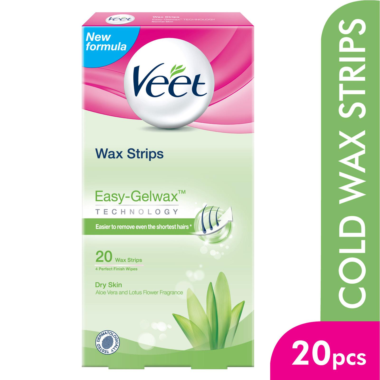 Veet Hair Removal Wax Strips For Dry Skin X20 Lazada Singapore