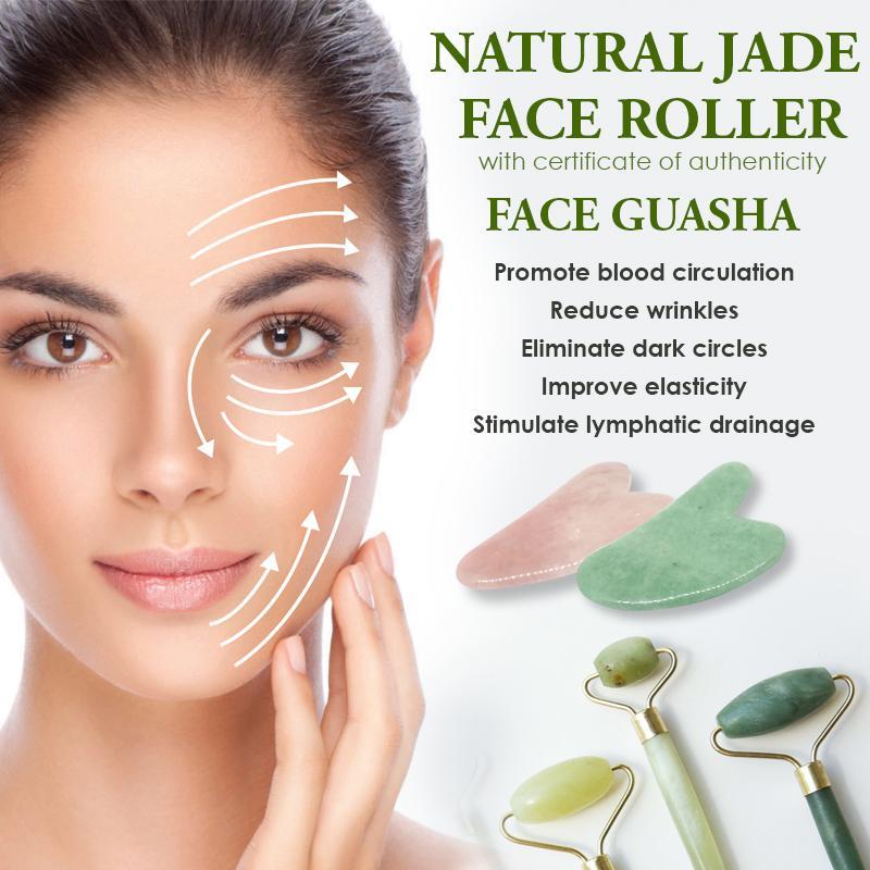 Flash Sale Natural Facial Massage Tool Guasha Beauty Jade