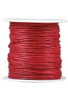 1 Roll 80M Waxed Cotton Cord Macrame Thread Rope Wire Fit Necklace Bracelet 0.5x0.5mm Red