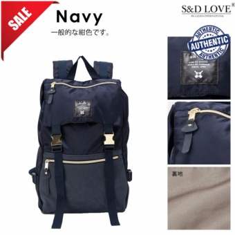 Harga 100% authentic GOLD BUCKLE BACKPACK ANELLO best seller (COLOR: NAVY)