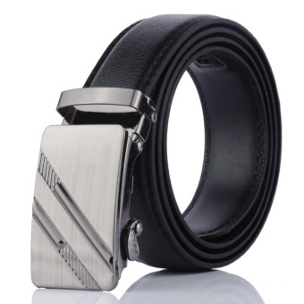 1x Classic PU Leather Automatic Buckle Men Belts Fashion Business Man Belts Waistband - intl