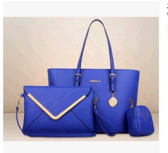 Women's European and American-style Stylist Large Bag (Blue) (Blue)