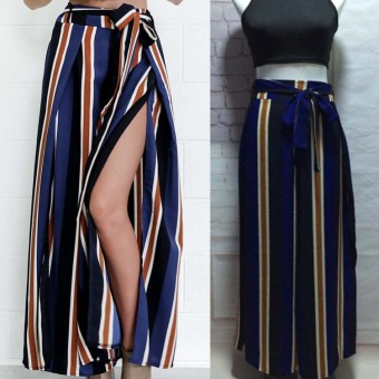 2016 winter new harem pants loose wide pant slit wide leg pants