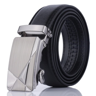 2017 Hot Sale Fashion PU Leather Man Belt Classic Automatic Buckle Belt Strap luxury design - intl