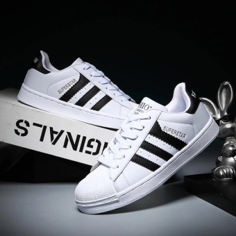 2017 New Men and Women Fashion Casual Sports Shoes-White and Black - intl