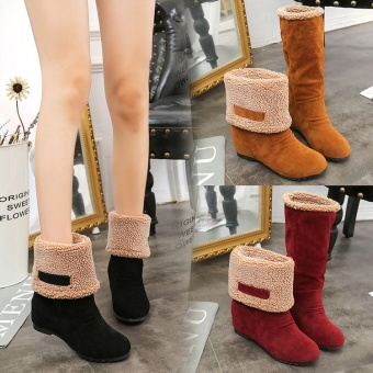 2018 new autumn and winter plus velvet thickening increased snow boots - intl